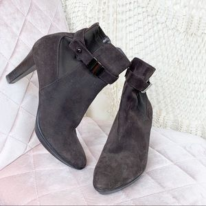 Auqutalia by Marvin K brown Suede ankle bootie 10